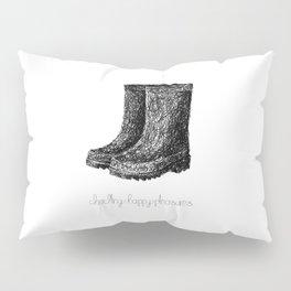 Rainboots Doodle Pillow Sham