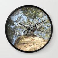 climbing Wall Clocks featuring KEEP CLIMBING by Aonair Designs