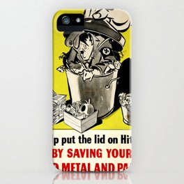 Vintage poster - Help put the lid on Him iPhone Case