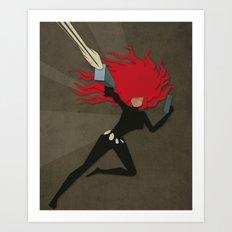 Paper Heroes - Black Widow2 Art Print