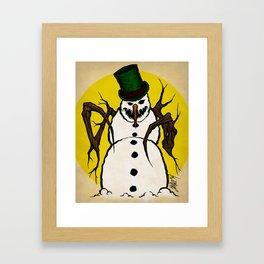 Sinister Snowman Framed Art Print