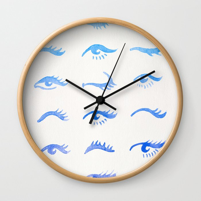 Mascara Envy – Blue Ombré Palette Wall Clock