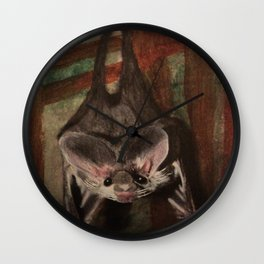 Bat's Bed Time Wall Clock