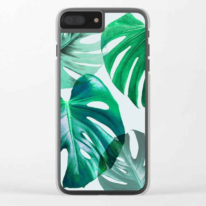 Monstera 1 Clear iPhone Case