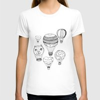 hot air balloons T-shirts featuring dreaming of hot air balloons by Oh, Hopscotch!