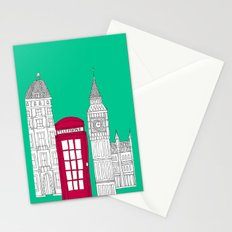 Capital Icons // London Red Telephone Box Stationery Cards