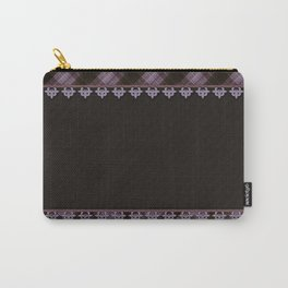Brown plaid, plaid blanket, brown pattern, patchwork, folklore, rustic style, elegant pattern, plaid Carry-All Pouch