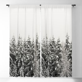 Winter Trees IV - Snow Capped Forest Adventure Nature Photography Blackout Curtain