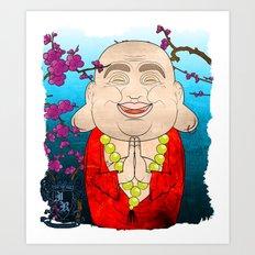 Smiling Buddha Matryoshka/Nesting Doll Art Print