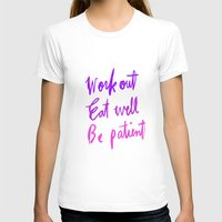 workout T-shirts featuring Neon workout quote by nneko