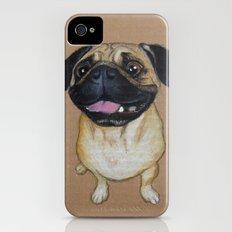 Pug Dog Slim Case iPhone (4, 4s)