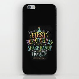 First Responsibility iPhone Skin