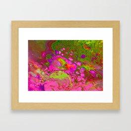 Pink Acid Framed Art Print