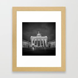 BERLIN Brandenburg Gate | monochrome Framed Art Print