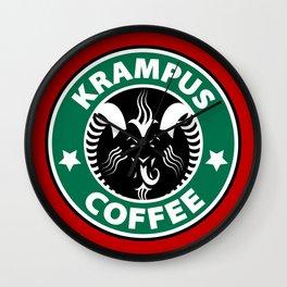 Krampus Coffee Wall Clock