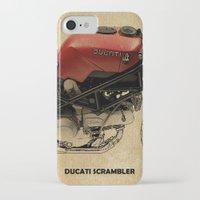 ducati iPhone & iPod Cases featuring Ducati Scrambler by Larsson Stevensem