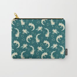 Relaxolotl - Teal Carry-All Pouch