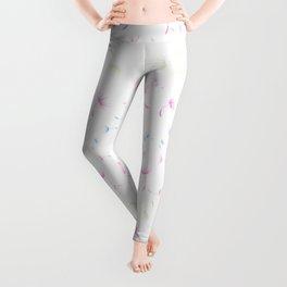 Dandelion Seeds Transgender Pride (white background) Leggings