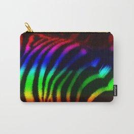 Rainbow Zebra Print Carry-All Pouch