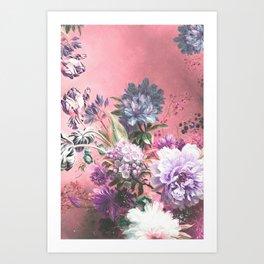 Pink Misty Master Floral Art Print