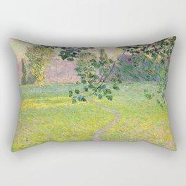 """Claude Monet """"Paysage de matin"""" (1888) Rectangular Pillow"""