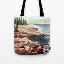Acadia Coastline Tote Bag