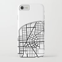 detroit iPhone & iPod Cases featuring Detroit Streets by AnnieK