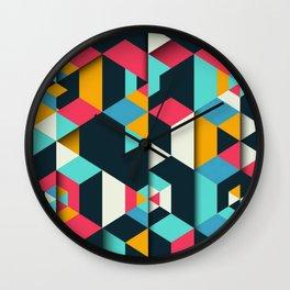 frames geometric colors Wall Clock