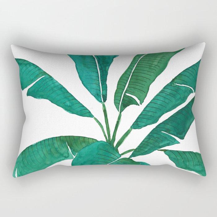 banana leaf watercolor Rectangular Pillow