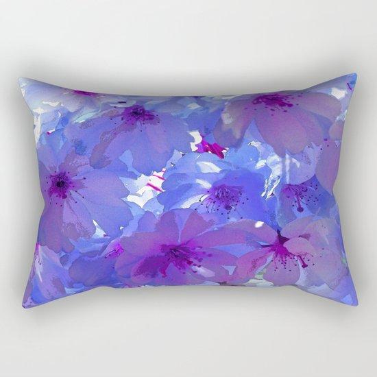 Blue Cherry Blossoms Rectangular Pillow