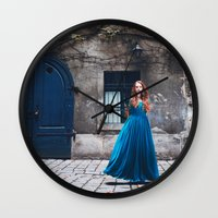 queen Wall Clocks featuring Queen by Jovana Rikalo