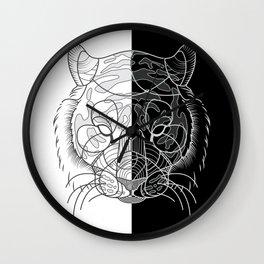 Tiger B&W Wall Clock