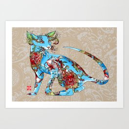 Geisha's MODERN Cats >>>>>> GENDER>>>KOITOE Art Print