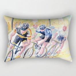 Colorful Bike Race Art Rectangular Pillow