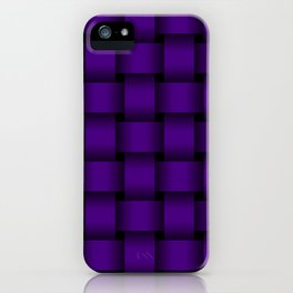 Large Indigo Violet Weave iPhone Case
