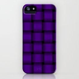 Large Indigo Violet Weave iPhone Case