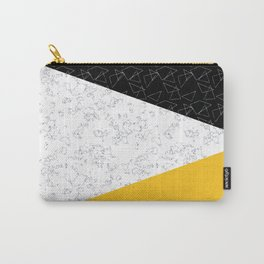 Black yellow white flap Carry-All Pouch