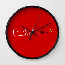 ( ・_・)ノ⌒●~* Bomb! Wall Clock