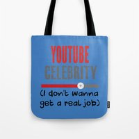 "celebrity Tote Bags featuring ""Celebrity"" by Rachcox"