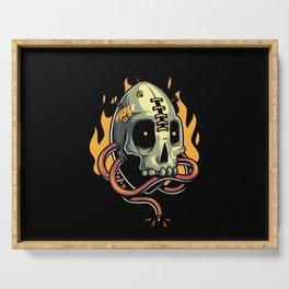 Skull Fire Serving Tray