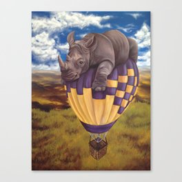 When Rhinos Fly Canvas Print