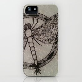 WHITE CANDICE DRAGONFLY iPhone Case