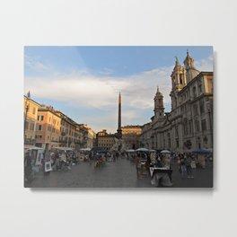Piazza Navona At Sunset Metal Print