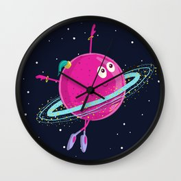 Space dancing Wall Clock