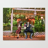 cowboy bebop Canvas Prints featuring Meifa & Jet Black (cowboy bebop) St.petersburg FL) by Jackobi Austin