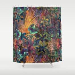 Haleiwa Tropical Orange Shower Curtain