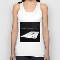 apollonia Tank Tops featuring asc 593 - Le silence des cigales (The midnight lights) by From Apollonia with Love