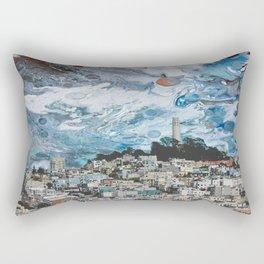 Starry Coit Tower Rectangular Pillow