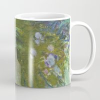 monet Mugs featuring Irises by Claude Monet by Palazzo Art Gallery