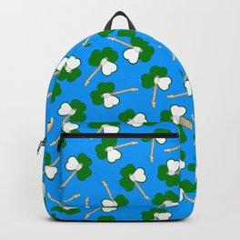 Sham-Rock on blue Backpack